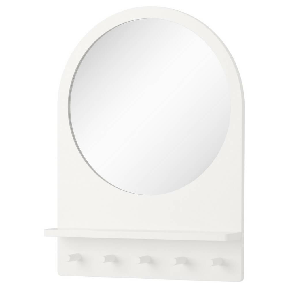 Зеркало с полкой и крючками САЛТРЁД