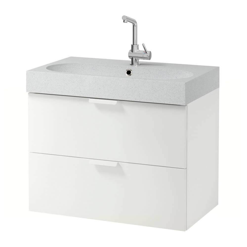Шкаф для раковины с 2 ящиками ГОДМОРГОН / БРОВИКЕН