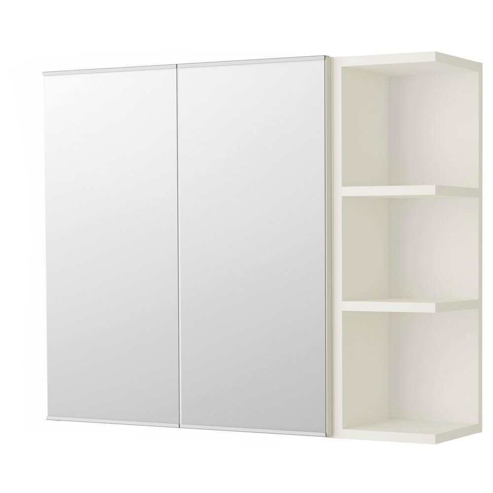 Зеркальный шкафчик (2 дверцы и 1 открывающаяся полка) ЛИЛЛОНГЕН