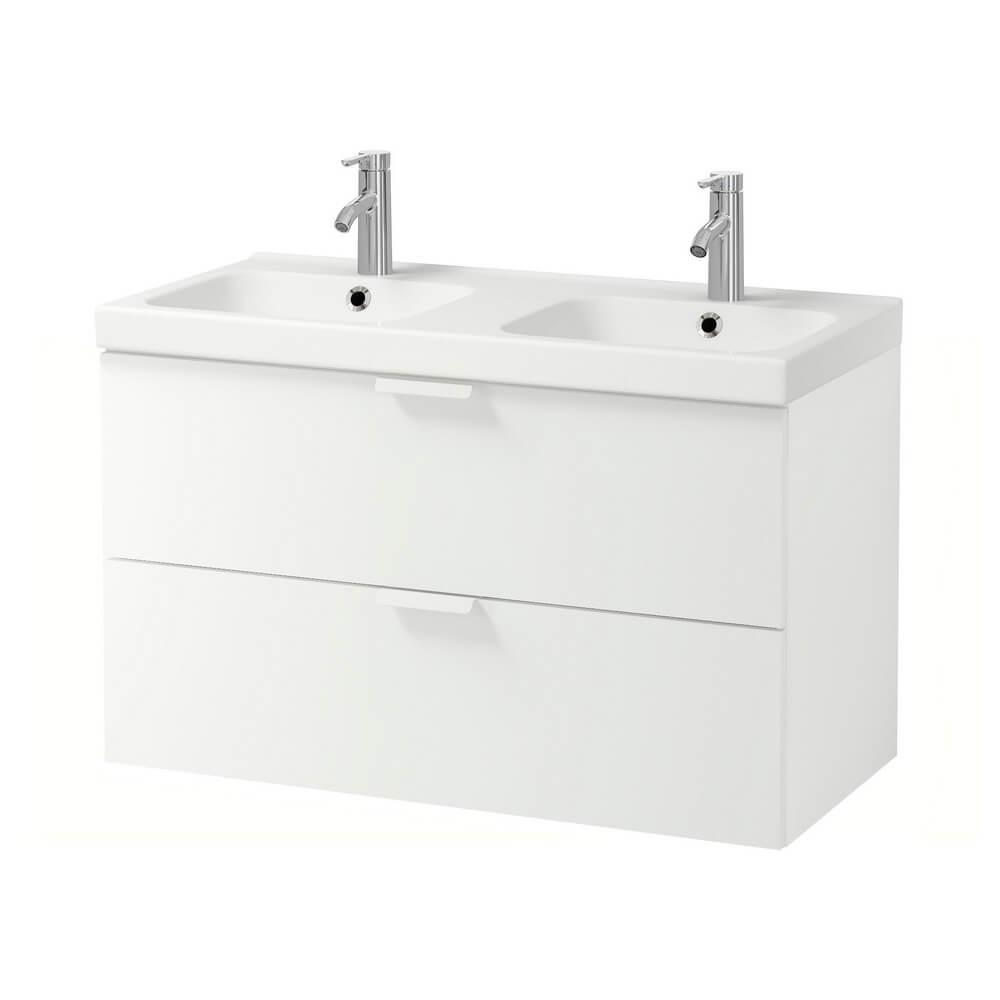 Шкаф для раковины с 2 ящиками ГОДМОРГОН / ОДЕНСВИК