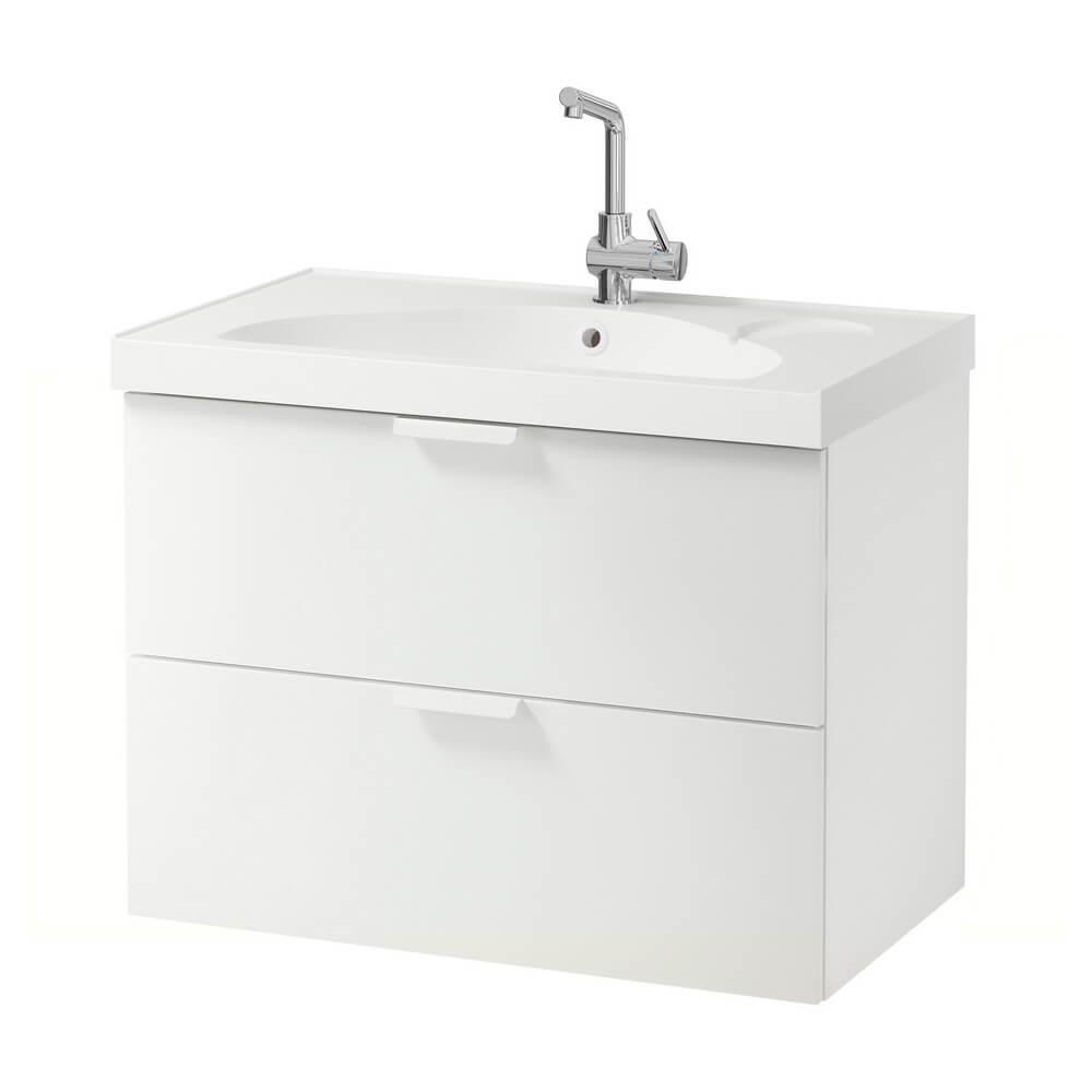Шкаф для раковины с 2 ящиками ГОДМОРГОН / ЭДЕБОВИКЕН