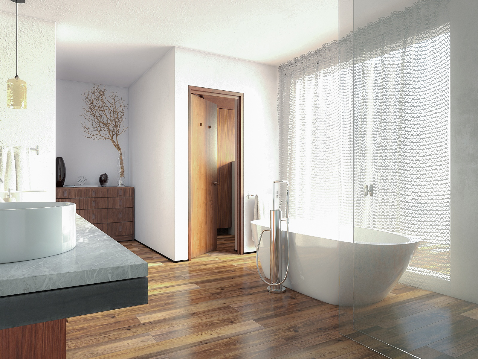Водостойкий ламинат для ванной StoneFloor сосна редривер